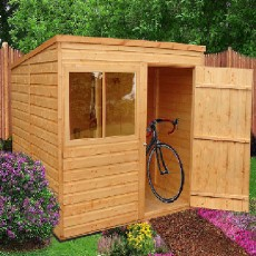 6 x 8 (1.83m x 2.39m) Shire Pent Shed