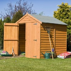 6 x 6 (1.76m x 1.82m) Shire Overlap Windowless Shed with Double Doors