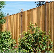 5ft High (1500mm) Grange Standard Feather Edge Fencing Packs Golden Brown - Pressure Treated
