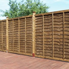 5ft High (1500mm) Grange Weston Professional Lap Fencing Packs - Dark Brown