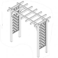 Forest Forest Ultima Pergola Arch - Large