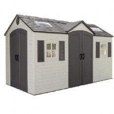 15 x 8 (4.5m x 2.34m) Lifetime Plastic Shed (with Double Entry)