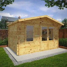 13G x 10 (4.00m x 3.00m) Mercia Retreat Log Cabin (28mm to 44mm Logs)