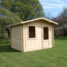 10G x 8 (3.20m x 2.60m) Mercia Escape Log Cabin (28mm to 44mm Logs)