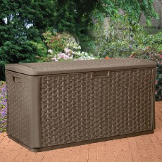 Suncast Rattan Style Wicker Deck Box - 507 Litre Capacity
