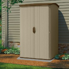 5 x 4 (1.42m x 1.24m) Suncast Plastic Conniston Three Garden Shed