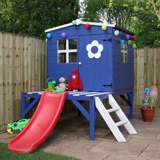 4 x 4 (1.30m x 1.20m) Mercia Bluebell Tower Playhouse with Slide