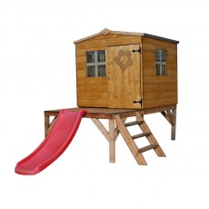 Mercia 4 x 4 (1.30m x 1.20m) Mercia Bluebell Tower Playhouse with Slide