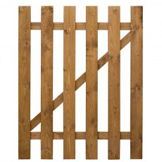 4ft High (1220mm) Mercia Flat Top Palisade Gate - Dip Treated - front view