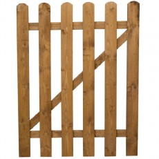 3ft High (915mm) Mercia Round Top Palisade Gate