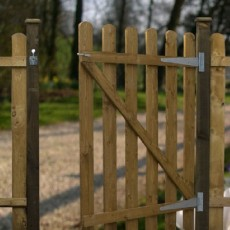Mercia 3ft High (915mm) Mercia Round Top Palisade Gate