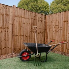 6ft High (1829mm) Mercia Vertical Feather Edge Flat Top Fencing Pack - Pressure Treated