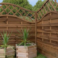 Mercia 4ft High (1200mm) Mercia Lincoln Pressure Treated Fence Panels with Integrated Trellis