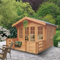12G x 8 (3.59m x 2.39m) Shire Grizedale Log Cabin (28mm to 70mm Logs)