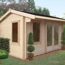 10 x 12 Shire Marlborough Log Cabin - In situ