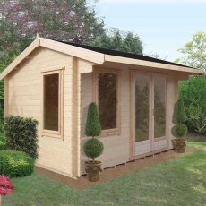 14G x 16 (4.19m x 4.79m) Shire Marlborough Log Cabin (28mm to 70mm Logs)