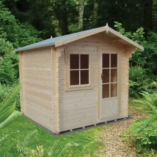 8G x 12 (2.39m x 3.59m) Shire Norwood Log Cabin (28mm Logs)