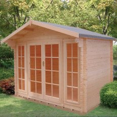 10G x 8 (2.99m x 2.39m) Shire Epping Log Cabin (28mm Logs)