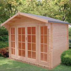 10G x 14 (2.99m x 4.19m) Shire Epping Log Cabin (28mm Logs)