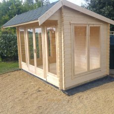 8G x 12 (2.39m x 3.69m) Shire Wykenham Log Cabin (34mm to 70mm Logs)
