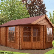 16G x 19 (4.79m x 5.69m) Shire Livia Log Cabin (28mm logs)