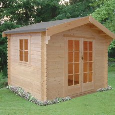 8G x 8 (2.39m x 2.39m) Shire Dalby Log Cabin (28mm to 70mm Logs)