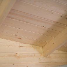 10G x 10 (2.99m x 2.99m) Shire Tunstall Log Cabin - close up of roof bearers