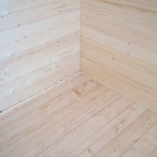 10G x 10 (2.99m x 2.99m) Shire Tunstall Log Cabin - tongue and groove floor with skirting board