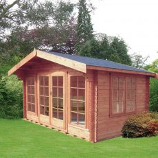 12G x 14 (3.59m x 4.19m) Shire Argyll Log Cabin (28mm to 70mm Logs)