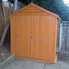 4 x 6 Overlap Windowless Shed with Double Doors
