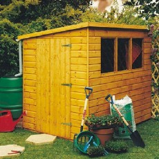 7 x 5 (2.09m x 1.49m) Goodwood Caldey Professional Pent Shed