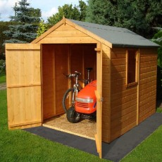 8 x 6 (2.38m x 1.79m) Shire Shiplap Apex Shed (Double Doors)