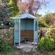 Shire Honeysuckle Corner Arbour - painted in blue