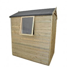 6 x 4 (1.78m x 1.14m) Forest Tongue and Groove Pressure Treated Apex Shed
