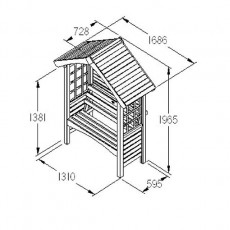 Forest Cadiz Garden Arbour - diagram