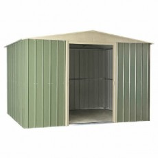 10 x 8 (2.95m x 2.37m) Lotus Apex Metal Shed (Mist Green)