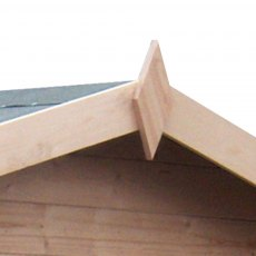 9 x 9  Shire Avesbury Log Cabin - Detail of finial