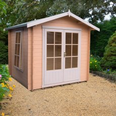 8G x 8 (2.39m x 2.39m) Shire Barnsdale Log Cabin (19mm Logs)