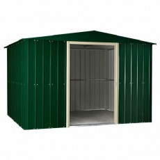 10 x 12 (2.95m x 3.61m) Lotus Apex Metal Shed (Heritage Green)