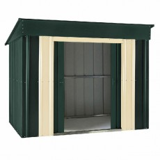 6 x 4 (1.71m x 1.13m) Lotus Low Pent Metal Shed (Heritage Green)