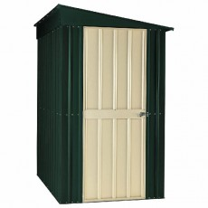 5 x 8 (1.44m x 2.34m) Lotus Lean-to Metal Shed (Heritage Green)
