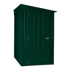 4 x 6 (1.13m x 1.71m) Lotus Lean-to Metal Shed in Heritage Green