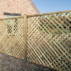 Grange 6ft High (1800mm) Grange Elite Square Top Lattice Trellis - Pressure Treated
