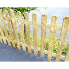 3ft High (1000mm) Grange Elite Profiled Picket Fencing Packs Pressure Treated