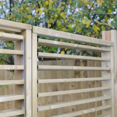 6ft High (1800mm) Grange Adjustable Slat Garden Screen Fencing Packs - Pressure Treated