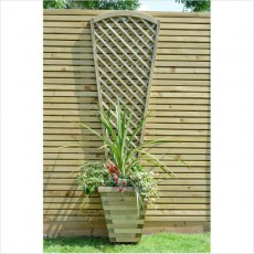 6ft High (1800mm) Grange Alderley Fan Trellis - Pressure Treated