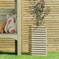 Grange Tall Contemporary Planter - Pressure Treated