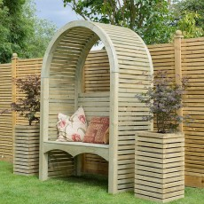 Grange Contemporary Garden Arbour - Pressure Treated