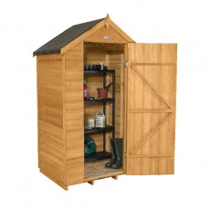 4 x 3 (1.32m x 0.92m) Forest Overlap Apex Garden Shed - No Windows