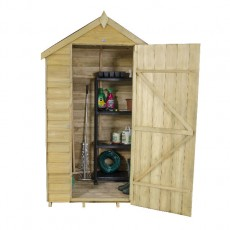 4 x 3 (1.32m x 0.92m) Forest Overlap Pressure Treated Security Apex Shed